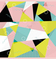 memphis pattern of geometric shapes vector image vector image