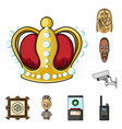 museum and gallery cartoon icons in set collection vector image