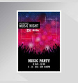 music party invitation card design vector image
