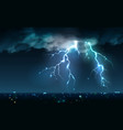 night city storm composition vector image vector image