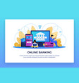 online banking electronic finance and digital vector image