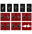 palm with fingers vector image vector image