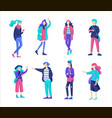 people friends character group of vector image