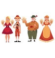 People in traditional German Bavarian costume vector image