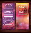 save the date invitation stationery vector image vector image