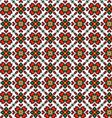 Seamless geometric flowers pattern vector image