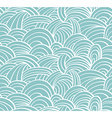 seamless sea hand-drawn pattern waves background vector image vector image