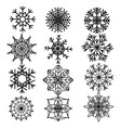 set snowflakes collection stylized vector image vector image