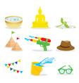 songkran festival water splash of thailand vector image vector image