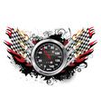 speedometer emblem vector image vector image