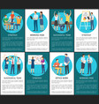 teams develop working tasks and strategies posters vector image