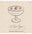 valentine card with wishes text vector image vector image