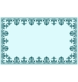 Vintage baroque decor frame ornate vector image vector image