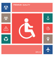 wheelchair handicap icon elements for your vector image vector image