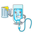 with juice infussion bottle mascot cartoon vector image