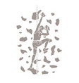 woman climbing on the wall hiking indoor vector image vector image