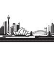 sydney skyline by day vector image