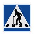 traffic sign pedestrian crossing elderly vector image