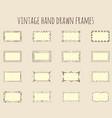 vintage hand drawn frames vector image