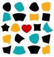 shapes Banner star heart circle vector image