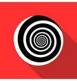 Spiral icon in flat style vector image