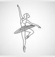 ballet logo icon vector image