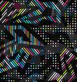 grunge spectrum color geometric seamless pattern vector image