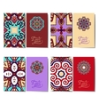 violet colour collection of ornamental floral vector image