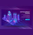 3d isometric site for trading vector image