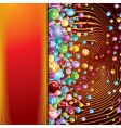 abstract poster vector image vector image
