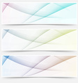 Abstract swoosh line header web footer set vector image