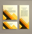 abstract three cards shape banner design vector image vector image