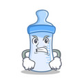 angry baby bottle character cartoon vector image vector image