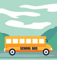 back to school at school bus concept background vector image vector image