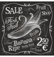 banana logo design template fresh fruit vector image vector image