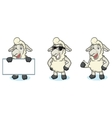 Beige Sheep Mascot happy vector image vector image