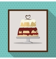 birthday cake party related icons image vector image vector image