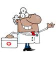 Cartoon doctor vector image vector image