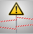 caution - danger warning sign safety a yellow vector image vector image