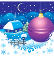 Christmas landscape postcard vector image