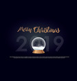christmas typographical on shiny background vector image