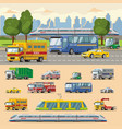 colorful urban transport concept vector image vector image