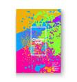 Creative cover frame design paint splatter neon