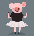 cute pig print vector image vector image