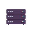 database icon server vector image vector image