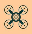 drone quadrocopter icon cog wheel symbol vector image vector image