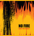 eco poster on theme forest fires save the vector image vector image