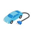 Electric car icon isometric 3d style vector image