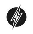 electric power sign vector image