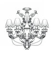 Exquisite Fabulous Imperial Baroque chandelier vector image vector image